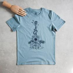Tee shirt homme femme bleu...