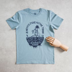 T-shirt bleu Un autre monde...