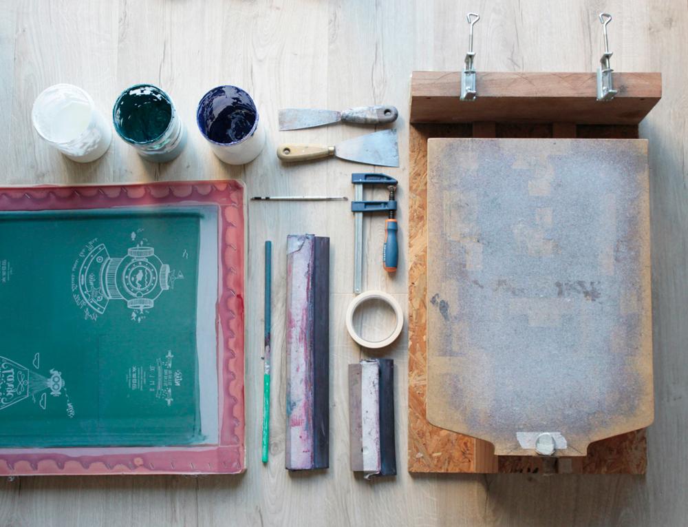 matériel impression sérigraphie artisanale CA CLAK